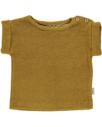 Poudre Organic T-shirt in Spugna Laurier, Carta da Zucchero (dai 3 anni) - 100% cotone bio T-Shirt e Canotte