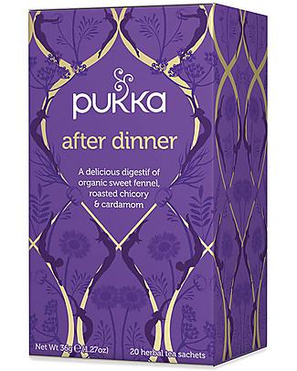 Pukka After Dinner, Tisana con Finocchio, Cicoria e Cardamomo, 20 bustine – Favorisce la digestione Tisane