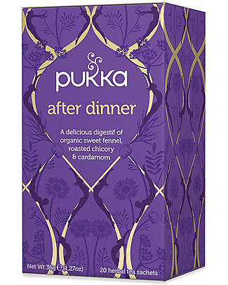 Pukka After Dinner, Tisana con Finocchio, Cicoria e Cardamomo, 20 bustine - Favorisce la digestione Tisane
