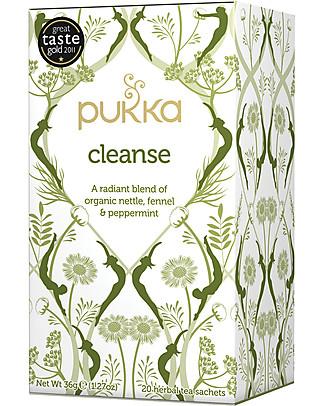 Pukka Cleanse, Tisana Purificante Ortica, Menta e Finocchio, 20 bustine - Nutre e purifica la pelle Tisane