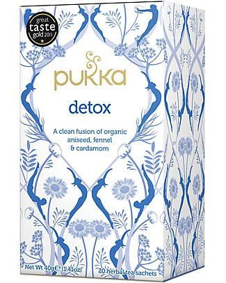 Pukka   Detox, Tisana all' Anice, Finocchio e Cardamomo, 20 bustine – Digestiva e calmante Tisane