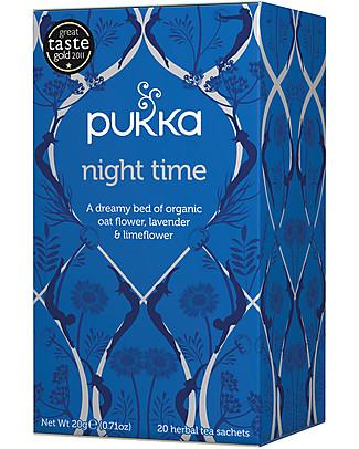 Pukka Night Time, Tisana per la Sera, 20 bustine – Favorisce il sonno profondo Tisane