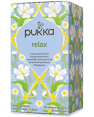 Pukka Relax, Tisana al Finocchio e Camomilla, 20 bustine – Ideale alla sera, dopo una giornata faticosa Tisane