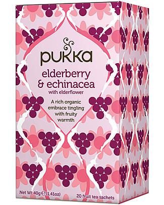 Pukka Sambuco & Echinacea, 20 bustine – Riscalda e conforta Tisane
