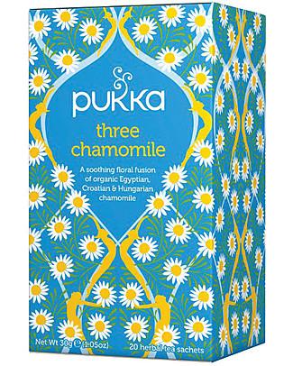 Pukka Three Chamomile, 20 bustine - Rilassante e calmante Tisane