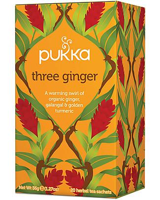 Pukka Tre Ginger, 20 bustine - Benefica per le vie respiratorie Tisane