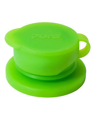 Pura Kiki Big Mouth, Tappo Sport in Silicone, Verde – Compatibile con tutte le bottiglie Pura Kiki e Pura Kiki Sport! Borracce Metallo