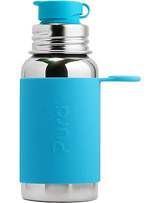 Pura Kiki Bottiglia Sport in Acciaio, Acqua, 550 ml - La prima al mondo 100% senza plastica! Borracce Metallo