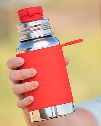 Pura Kiki Bottiglia Sport in Acciaio, Rosso, 550 ml – La prima al mondo 100% senza plastica! Borracce Metallo