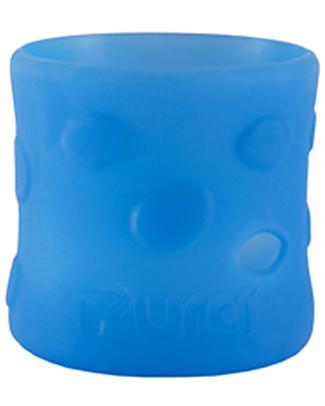 Pura Kiki Manicotto in Silicone per Biberon Pura Kiki 150ml - Azzurro Biberon In Acciao