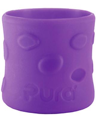 Pura Kiki Manicotto in Silicone per Biberon Pura Kiki 150ml - Viola Biberon In Acciao