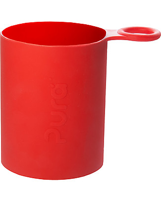 Pura Kiki Manicotto in Silicone per Bottiglia Pura Kiki Sport - Rosso Borracce Metallo