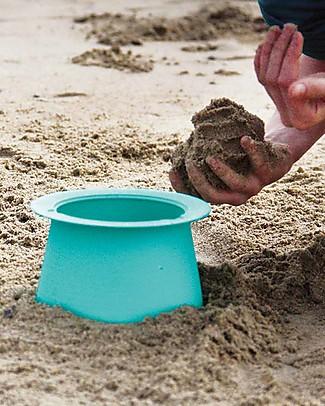 Quut Gioco Alto - Set 3 Stampi Impilabili per Castelli di Sabbia, Arancione Giochi Da Spiaggia