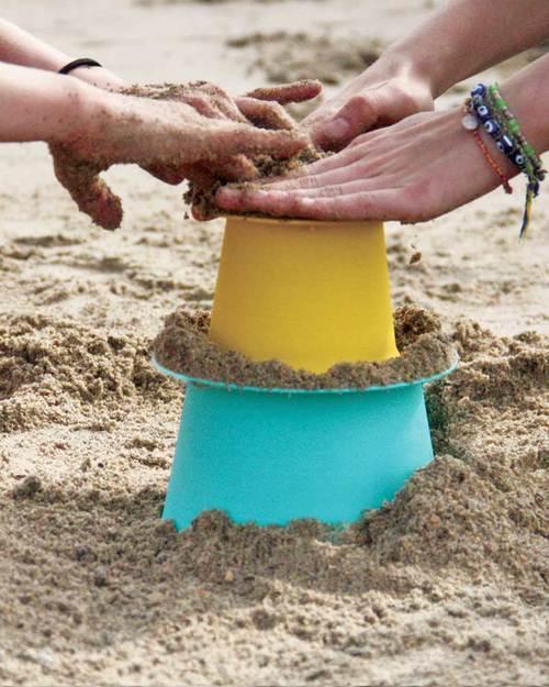 Quut Gioco Alto - Set 3 Stampi Impilabili per Castelli di Sabbia! Giochi Da Spiaggia