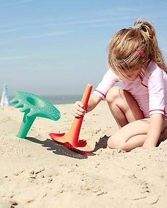 Quut Gioco Triplet - Paletta Multifunzione da Spiaggia - Arancione (design innovativo!) Giochi Da Spiaggia