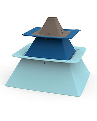 Quut Pira Piramide - Set 3 Stampi Impilabili per Castelli di Sabbia! Giochi Da Spiaggia