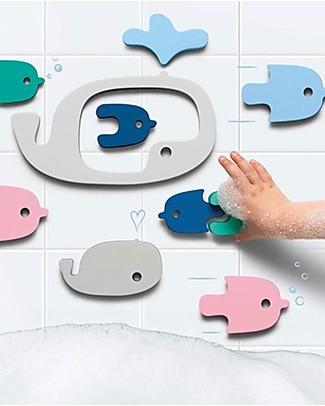 Quut Puzzle da Bagno delle Balene - Divertente ed Eco-friendly Giochi Bagno