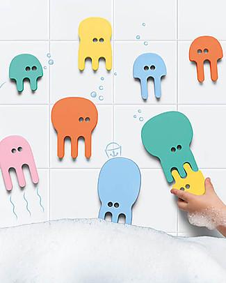 Quut Puzzle da Bagno delle Meduse - Divertente ed Eco-friendly Giochi Bagno
