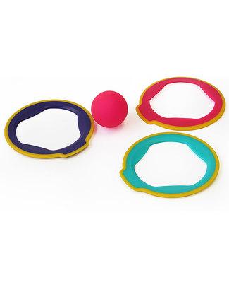 Quut Ringo set con 3 anelli e palla - leggero e amico dell'ambiente! Giochi Da Spiaggia