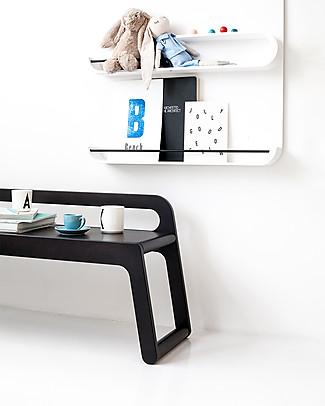 Rafa Kids   BB Bench, Panca con Schienale 120 cm, Cioccolato - Betulla finlandese Tavoli