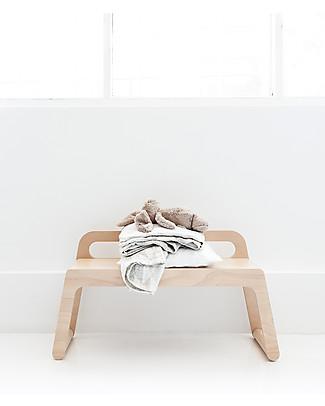 Rafa Kids BB Bench, Panca con Schienale 90 cm, Legno Naturale - Betulla finlandese Tavoli