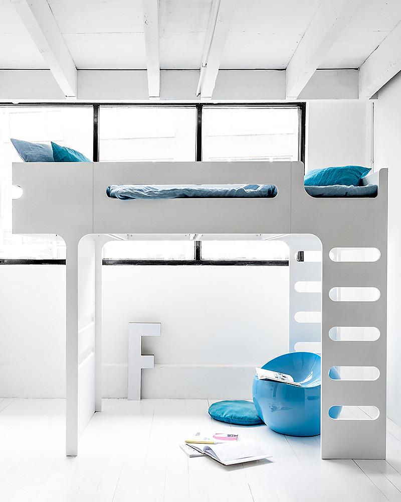 Letti A Castello Per Bambini Design.Rafa Kids F Letto A Soppalco Bianco Betulla Finlandese Unisex