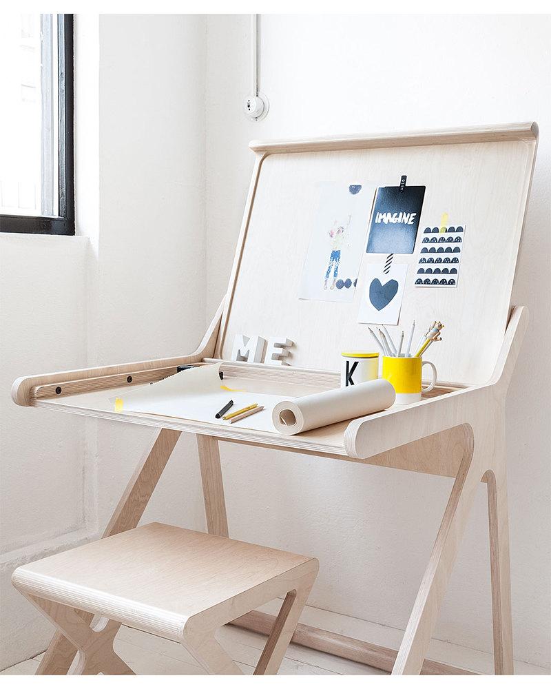 Rafa Kids K Desk Scrivania per Bambini - Naturale- Betulla ...