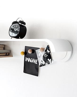 Rafa Kids Scaffale S per Bambini, Legno e Metallo Bianco - Betulla finlandese Mensole