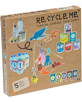 Re-Cycle-Me Set Gioco Ecologico Costruisci i Tuoi Giochi - Divertiti usando oggetti di riciclo! Giochi Creativi