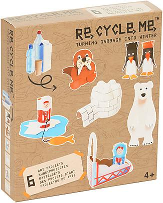 Re-Cycle-Me Set Gioco Ecologico Inverno - Scatena la fantasia usando oggetti da buttare! Giochi Creativi
