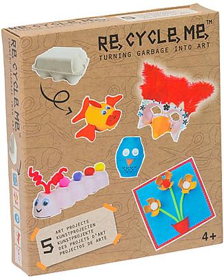 Re-Cycle-Me Set Gioco Ecologico per Bambine Contenitori Uova - Scatena la fantasia usando oggetti da buttare! Giochi Creativi