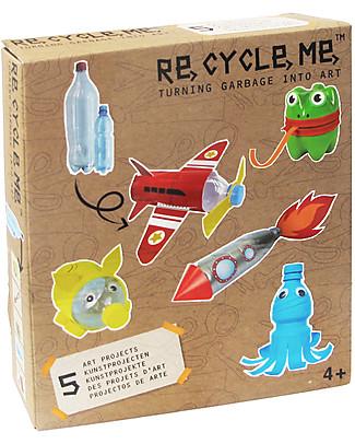 Re-Cycle-Me Set Gioco Ecologico per Bambini Bottiglie di Plastica - Scatena la fantasia usando oggetti da buttare! Giochi Creativi