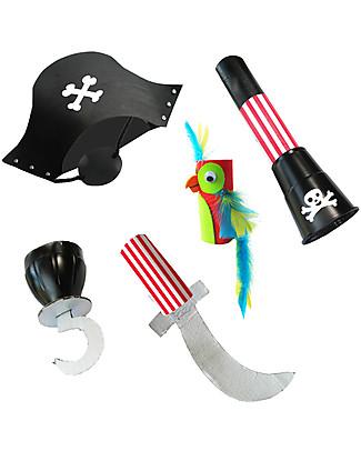 Re-Cycle-Me Set Gioco Ecologico Pirata - Crea divertenti accessori con oggetti di riciclo! Giochi Creativi