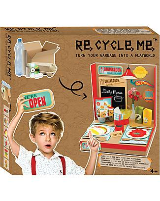 Re-Cycle-Me Set Gioco Ecologico Playworld Ristorante - Costruisci il tuo locale usando oggetti di riciclo! Giochi Creativi