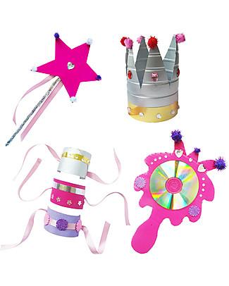 Re-Cycle-Me Set Gioco Ecologico Principessa - Crea divertenti accessori con oggetti di riciclo! Giochi Creativi