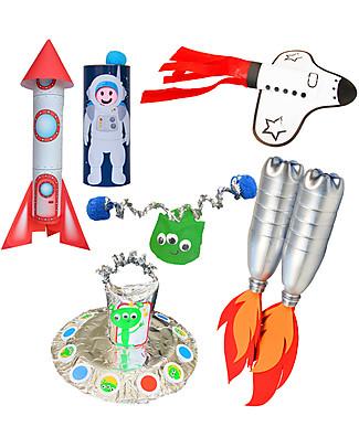 Re-Cycle-Me Set Gioco Ecologico Spazio - Scatena la fantasia usando oggetti da buttare! Giochi Creativi