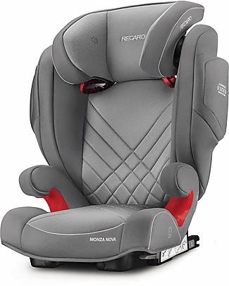 Recaro Seggiolino auto Monza Nova 2 Seatfix, Gruppo II-III, (12-36 kg) - Aluminium Grey Seggiolini Auto