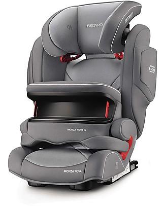 Recaro Seggiolino auto Monza Nova IS Seatfix, Gruppo I-II-III, (9-36 kg) - Aluminium Grey Seggiolini Auto