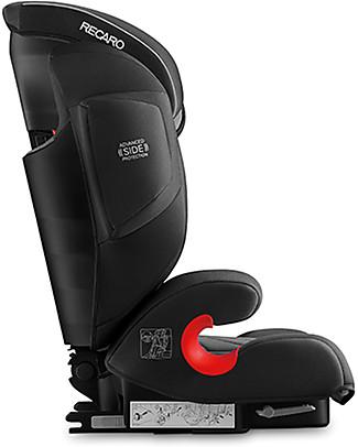 Recaro Seggiolino auto Monza Nova IS Seatfix, Gruppo I-II-III, (9-36 kg) - Carbon Black Seggiolini Auto