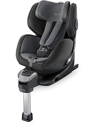 Recaro Seggiolino Auto ZERO.1 I.Size, 0-4 anni - Ruota a 360° in un clic- Carbon Black Seggiolini Auto