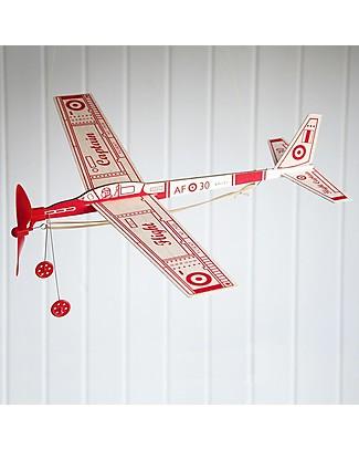 Rex London Aeroplanino in Legno - Fallo volare con l'elastico! Giochi Di Una Volta