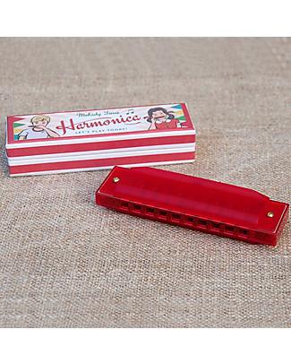 Rex London Armonica Rossa in Confezione Vintage - Ottima idea regalo Strumenti Musicali
