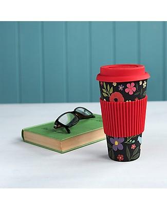 Rex London Bamboo Travel Mug, Midnight Garden Cups & Beakers