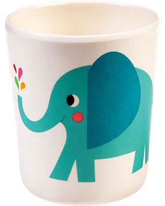 Rex London Bicchiere Bimbi in Melamina, Elvis the Elephant - Senza BPA, PVC, ftalati e piombo! Tazze e Bicchieri