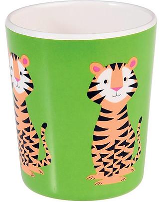 Rex London Bicchiere Bimbi in Melamina, Tigre - Senza BPA, PVC, ftalati e piombo! Tazze e Bicchieri