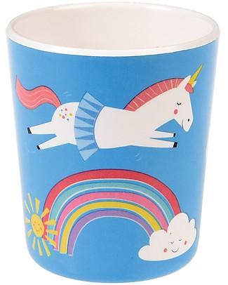 Rex London Bicchiere Bimbi in Melamina, Unicorno - Senza BPA, PVC, ftalati e piombo! Piatti e Scodelle