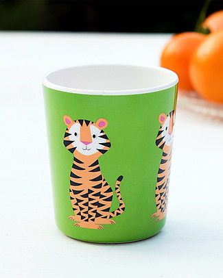 Rex London Bicchiere Bimbi, Tigre - Senza BPA, PVC, ftalati e piombo! Tazze e Bicchieri
