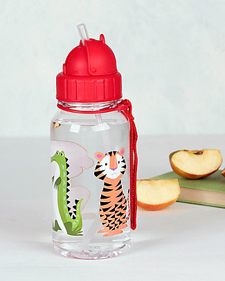 Rex London Borraccia 500 ml, Colourful Creatures - Senza BPA! Borracce senza BPA