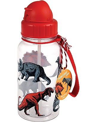 Rex London Borraccia 500 ml, Dinosauri - Priva di BPA! Borracce senza BPA
