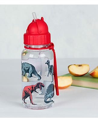 Rex London Borraccia 500 ml, Dinosauri - Priva di BPA! null